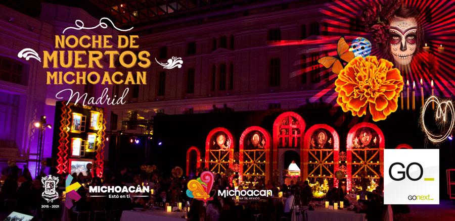 noche de muertos en Madrid realizado por Gonext para el Gobierno de Michoacán en el palacio de Cibeles